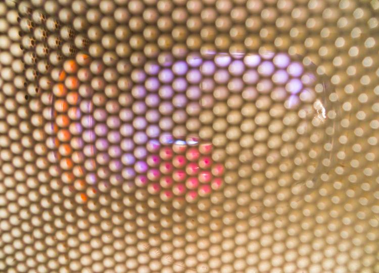 Plasma resembling northern lights in jam jar