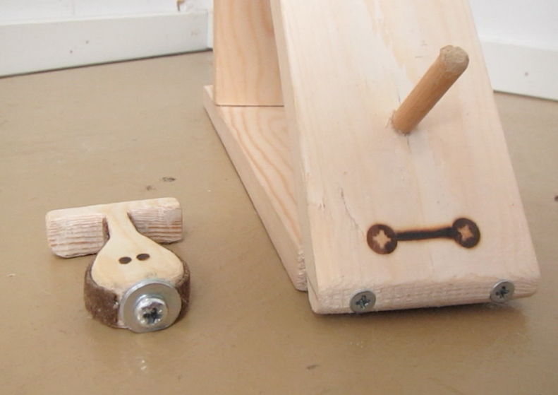 Kinetic Wooden toy - Dog and Bone