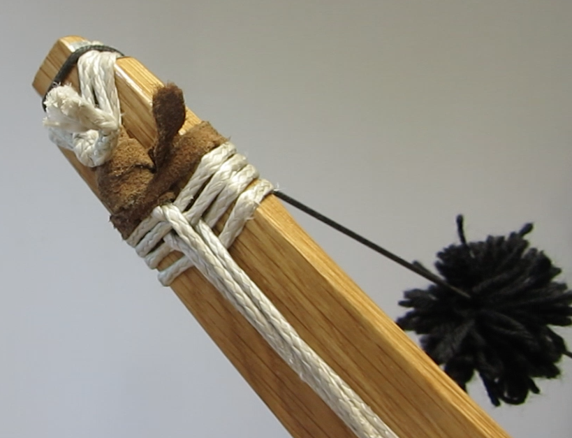 Limb of the dyneema cable backed center-fire bow