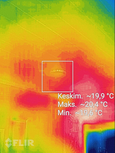 New FLIR thermal camera for inspecting house for cold bridges and thermal leakages and over pressure modification for home ventilation to prevent cold while using fire places