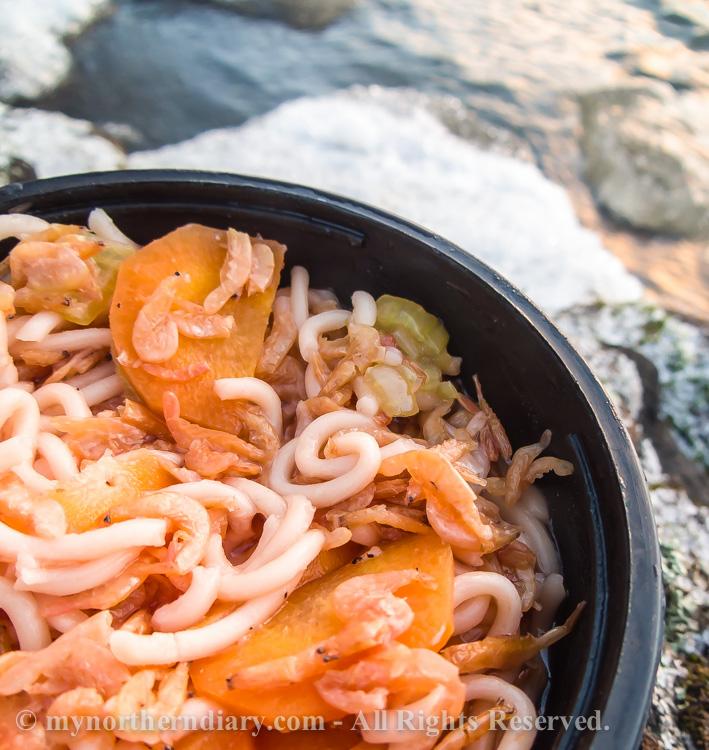 icy shore, jainen ranta, katka, nuudeleita, shrimp noodles_CRW_0766
