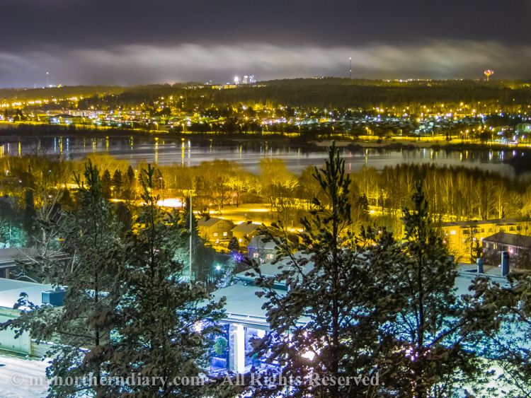 katuvalot, luminen kaupunki, night, snowy city, street lights, yo_CRW_0668