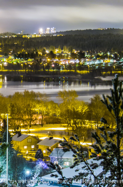 katuvalot, luminen kaupunki, night, snowy city, street lights, yo_CRW_0670
